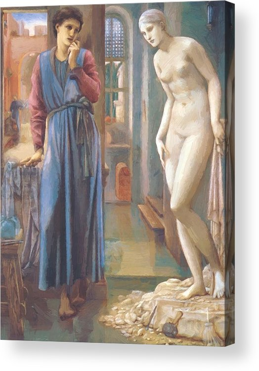 The Acrylic Print featuring the painting The Hand Refrains 2nd Series Pygmalion 1878 by BurneJones Edward