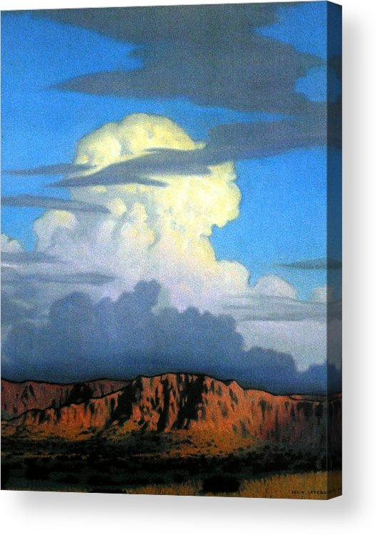 Weather Acrylic Print featuring the painting Thunderhead by Kevin Lawrence Leveque