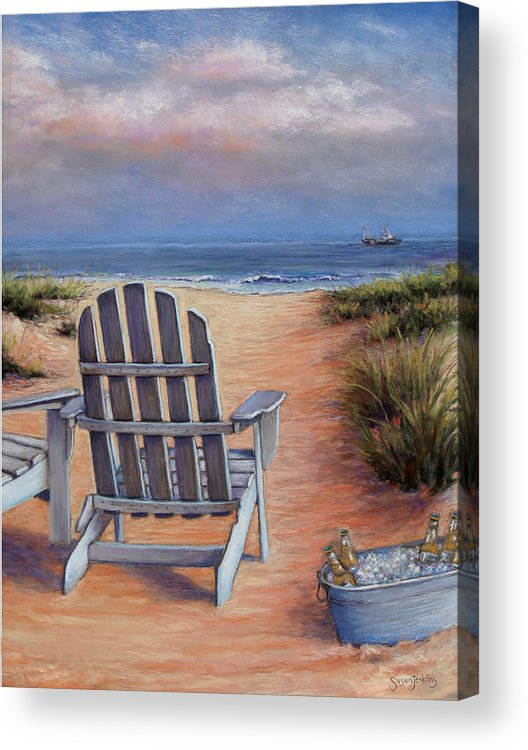 Landscape Acrylic Print featuring the pastel Time To Chill by Susan Jenkins
