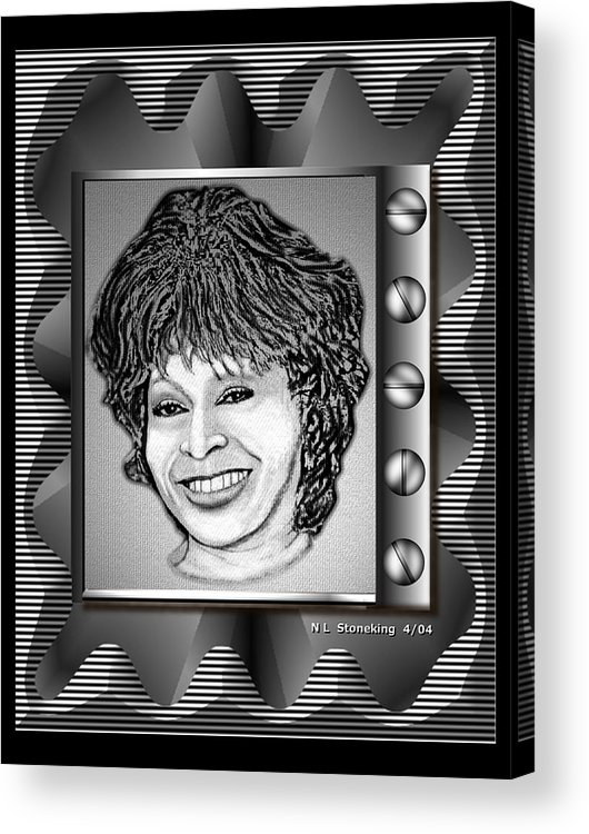 Abstract Acrylic Print featuring the digital art Tina by Norman Stoneking