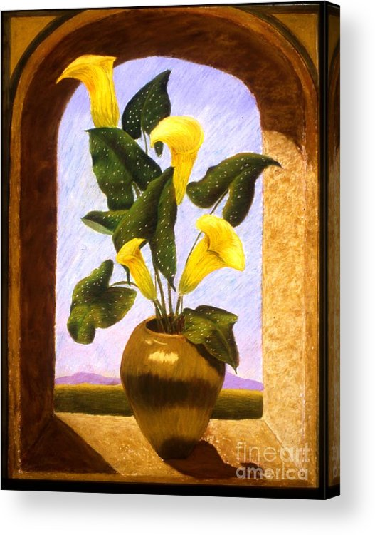 Still Life Acrylic Print featuring the painting Tribute To The Dutch Masters by Mary Erbert