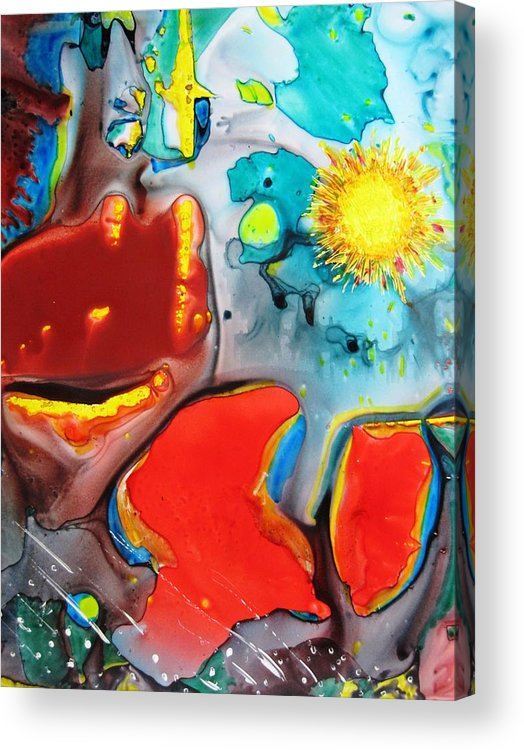 Space Acrylic Print featuring the painting Universe Four by David Raderstorf