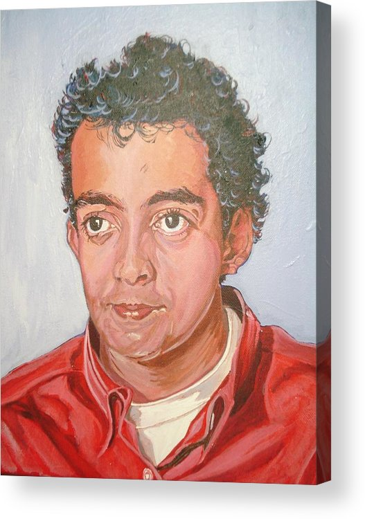 Portrait Acrylic Print featuring the painting Vinnie by Narayan Iyer