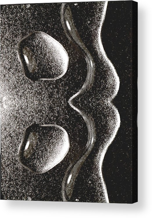 Water Acrylic Print featuring the photograph Waterdrop 1 by Nancy Mueller