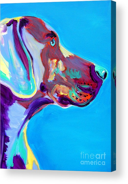Dog Acrylic Print featuring the painting Weimaraner - Blue by Alicia VanNoy Call
