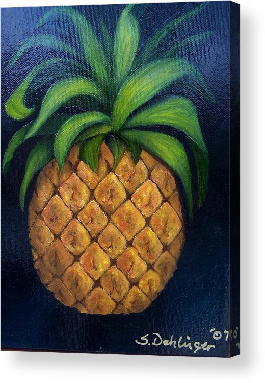 Still Life Acrylic Print featuring the painting Welcome    by Susan Dehlinger