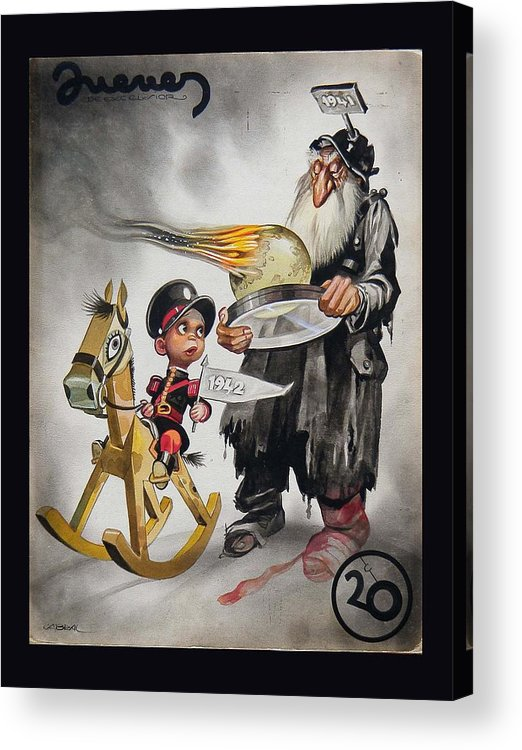 1941 Acrylic Print featuring the painting Welcoming 1942 by Ernesto Garcia Cabral