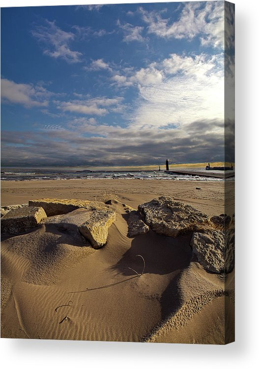 Horizons Acrylic Print featuring the photograph Winter Beach by Phil Koch