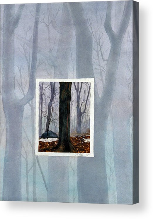 Winter Acrylic Print featuring the painting Winter by Nancy Ethiel