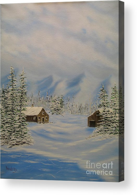 Mountains Acrylic Print featuring the painting Winters Beauty by Todd Androy