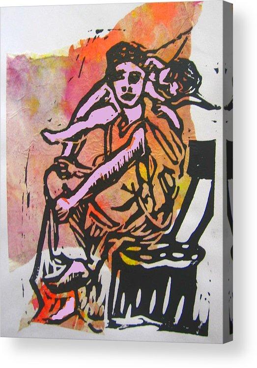 Angel Cherub Mythology Acrylic Print featuring the digital art Work Interrupted by Adam Kissel