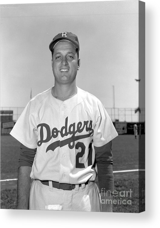 People Acrylic Print featuring the photograph Brooklyn Dodgers 1 by Kidwiler Collection