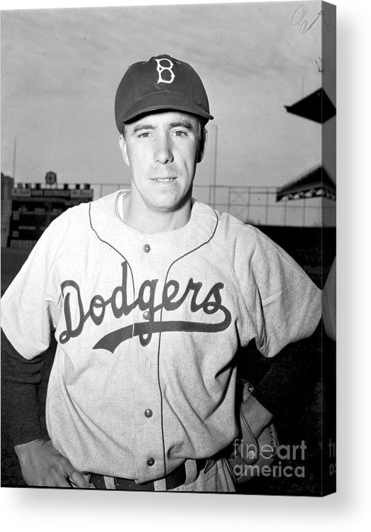 People Acrylic Print featuring the photograph Brooklyn Dodgers 2 by Kidwiler Collection