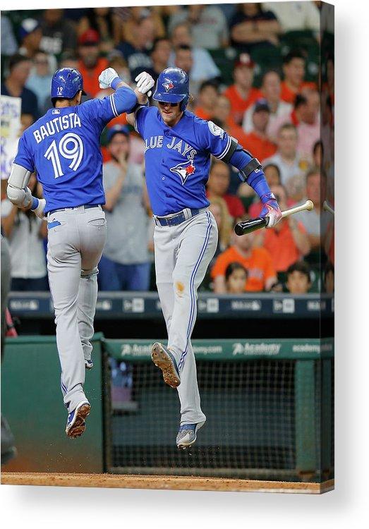 People Acrylic Print featuring the photograph Toronto Blue Jays V Houston Astros 2 by Bob Levey