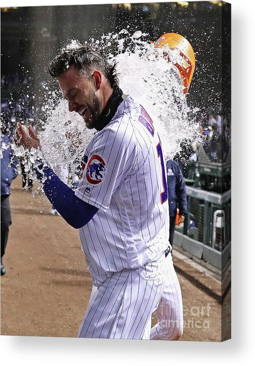 Three Quarter Length Acrylic Print featuring the photograph Miami Marlins V Chicago Cubs 3 by Jonathan Daniel