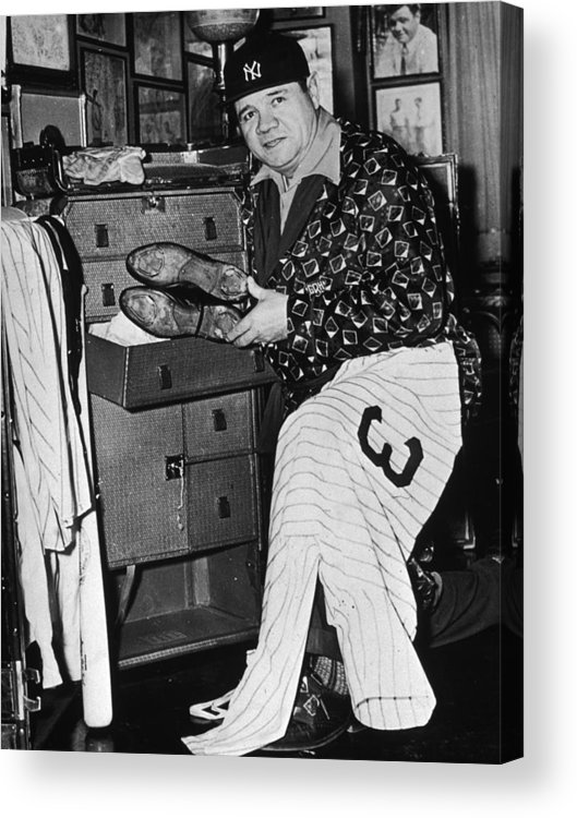 People Acrylic Print featuring the photograph Babe Ruth by American Stock Archive