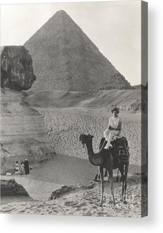 1920s Acrylic Print featuring the photograph Camel Ride At The Sphinx And Pyramids by Everett Collection