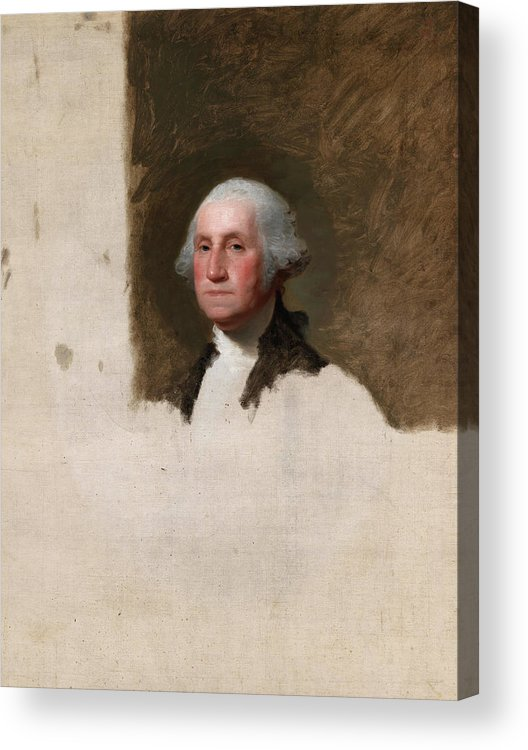 Gilbert Stuart Acrylic Print featuring the painting George Washington, The Athenaeum Portrait, 1796 by Gilbert Stuart