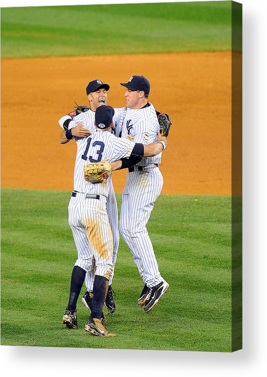 American League Baseball Acrylic Print featuring the photograph New York Yankees Alex Rodriguez, Derek by New York Daily News Archive