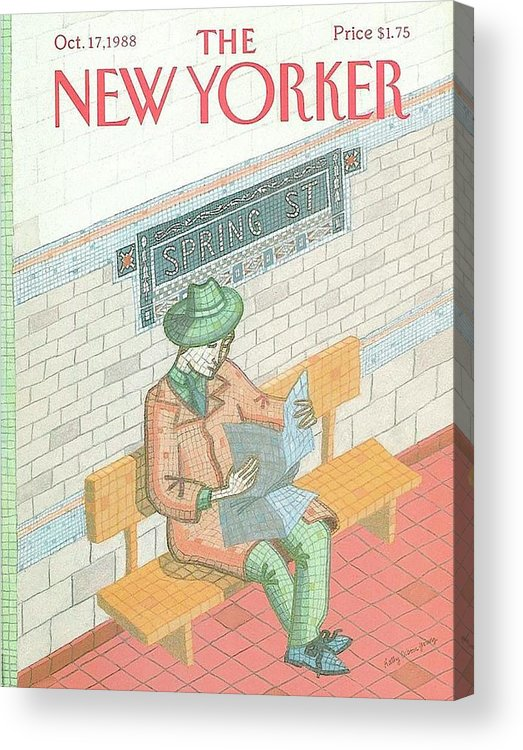 The New Yorker Magazine Cover Acrylic Print featuring the digital art The New Yorker Magazine Cover by Brahaman Dhumsi