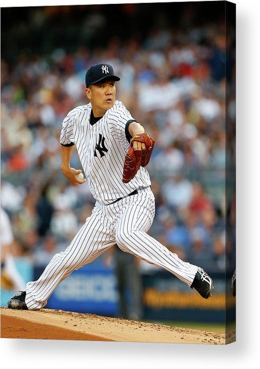 American League Baseball Acrylic Print featuring the photograph Masahiro Tanaka by Rich Schultz