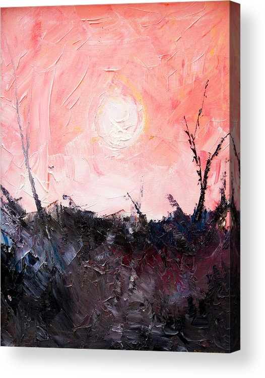 Duck Acrylic Print featuring the painting White Sun by Sergey Bezhinets