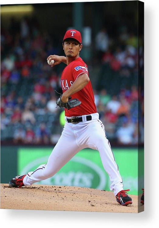 American League Baseball Acrylic Print featuring the photograph Yu Darvish by Ronald Martinez