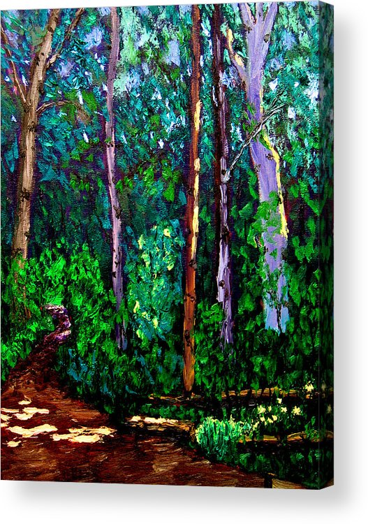Woods Acrylic Print featuring the painting Sewp 6 15 by Stan Hamilton