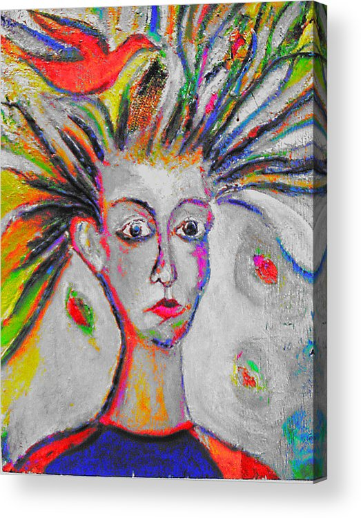 Human Compostion Acrylic Print featuring the mixed media Spring by Noredin Morgan