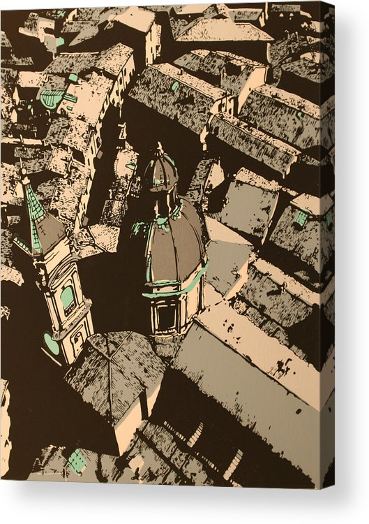 Acrylic Print featuring the print Roofs Of Bologna by Biagio Civale