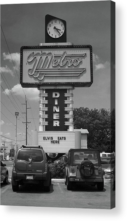 66 Acrylic Print featuring the photograph Route 66 - Metro Diner by Frank Romeo