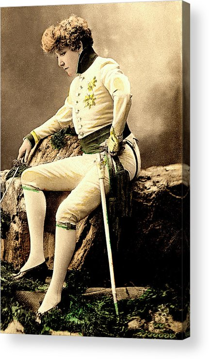 1900s Acrylic Print featuring the photograph Sarah Bernhardt by Collection Abecasis