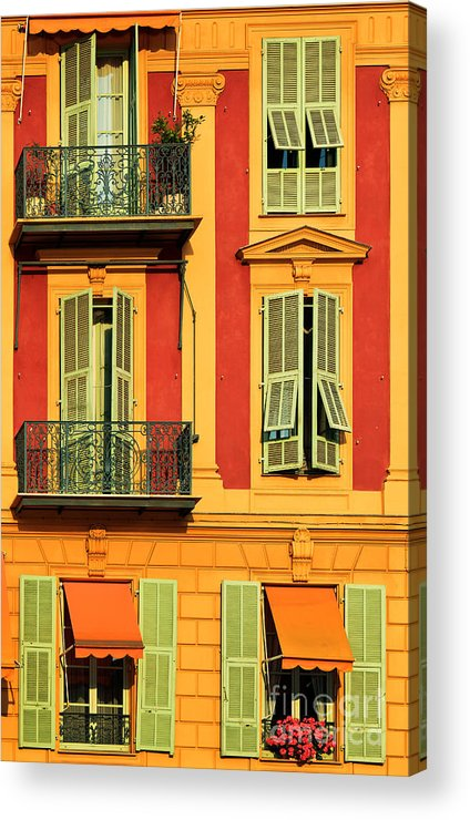Cote D\'azur Acrylic Print featuring the photograph Afternoon Windows by Inge Johnsson