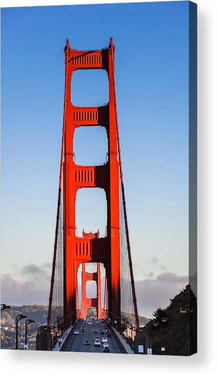 Bridge Acrylic Print featuring the photograph Golden Towers by Radek Hofman