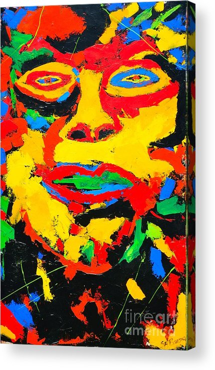 Face Acrylic Print featuring the painting Grande La Faccia by Shirley Barone