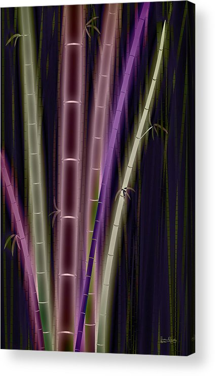 Bamboo Acrylic Print featuring the digital art Mystic Bamboo by Matt Lindley