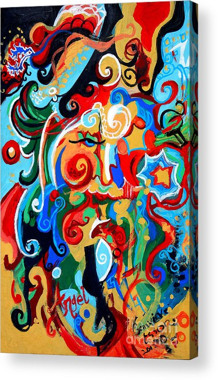 Polynomial Acrylic Print featuring the painting Polynomial Name God Phase I by Genevieve Esson