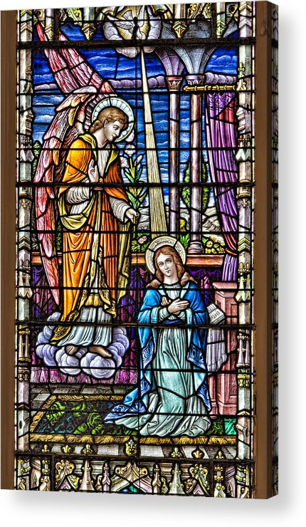 Catholic Acrylic Print featuring the photograph Stained Glass by Susan Candelario