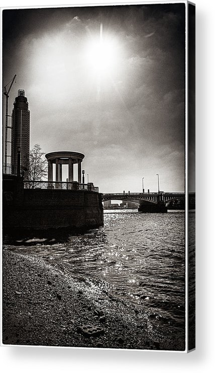 s.i.s Acrylic Print featuring the photograph Sunny London Beach 2 by Lenny Carter