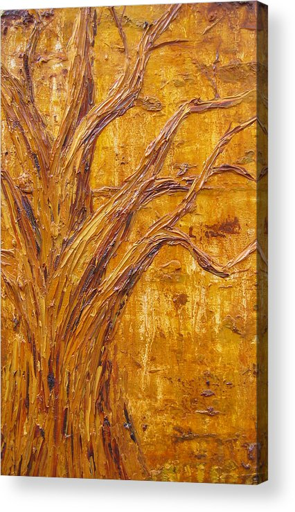 Trees Acrylic Print featuring the painting Sunset by Kim Wild