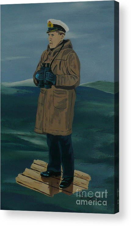 Captain Acrylic Print featuring the painting The Captain by Anthony Dunphy
