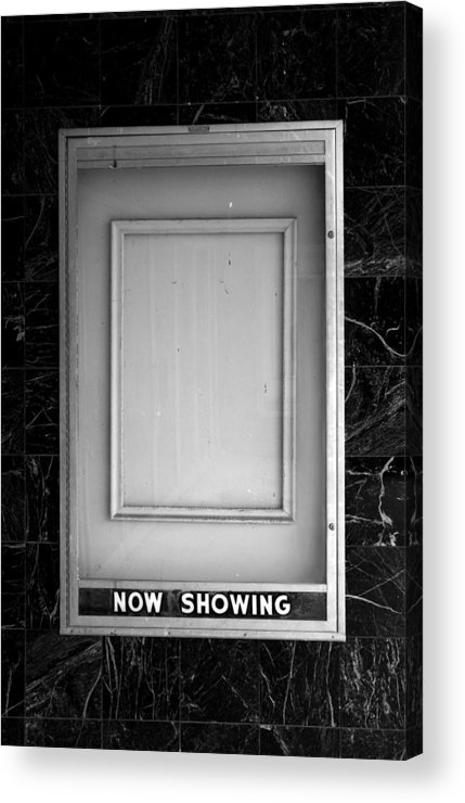 Movies Acrylic Print featuring the photograph The Last Picture Show by Vince Risner