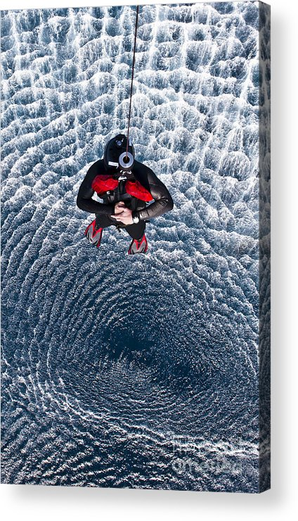 Water Acrylic Print featuring the photograph An Explosive Ordnance Disposal by Stocktrek Images