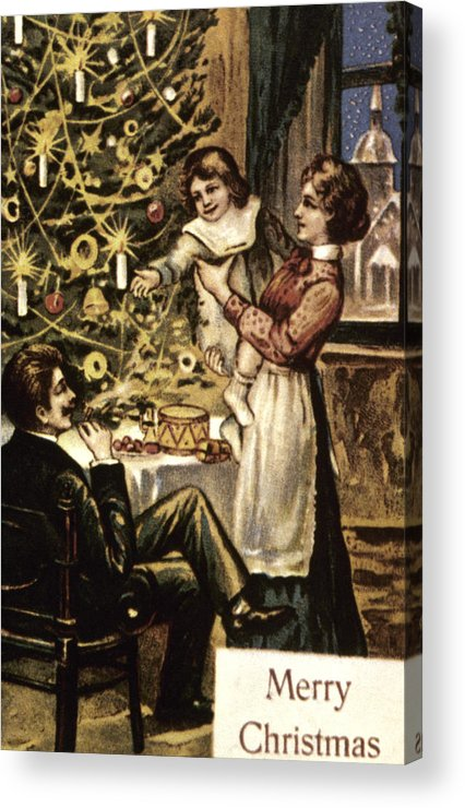 19th Century Acrylic Print featuring the photograph American Christmas Card by Granger