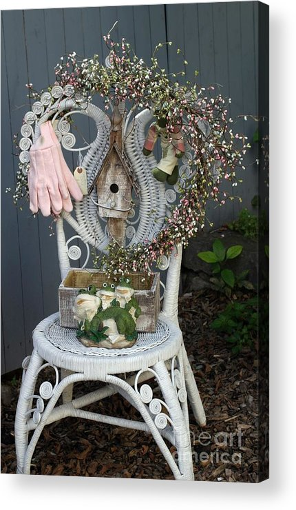 Welcome Acrylic Print featuring the photograph A Gardner's Welcome by Living Color Photography Lorraine Lynch