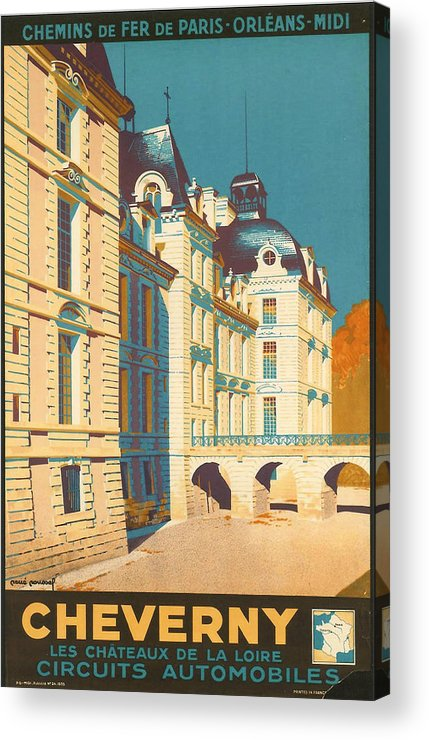 Ancient Acrylic Print featuring the digital art Chateau De Cheverny by Georgia Fowler