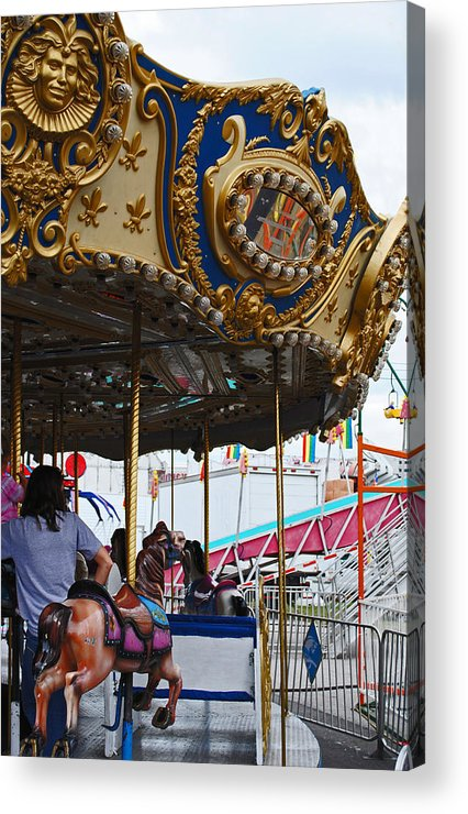 Fair Acrylic Print featuring the photograph Happy Ponies by Skip Willits