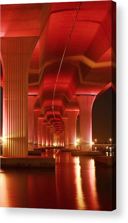 Roosevelt Bridge Acrylic Print featuring the photograph Inside Support by Lynda Dawson-Youngclaus