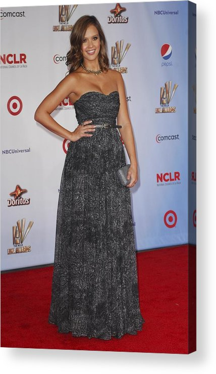 Jessica Alba Acrylic Print featuring the photograph Jessica Alba Wearing A Dress By Michael by Everett