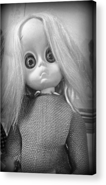 Doll Acrylic Print featuring the photograph Little Miss No Name by Lora Mercado